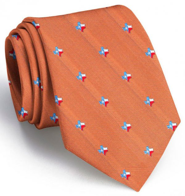 State of Texas Club Tie: Tie - Gold