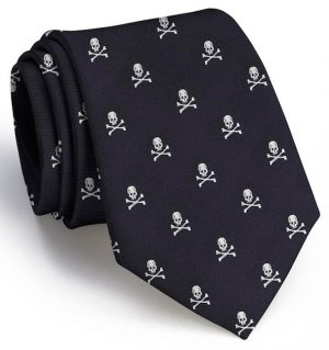 Skull & Crossbones Club Tie: Tie - Black
