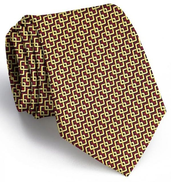 Complete Square: Tie - Burgundy