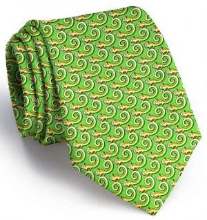 Leaping Lizards: Tie - Green