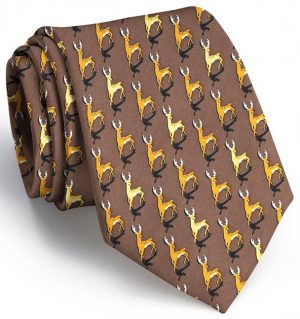 Stags: Tie - Brown