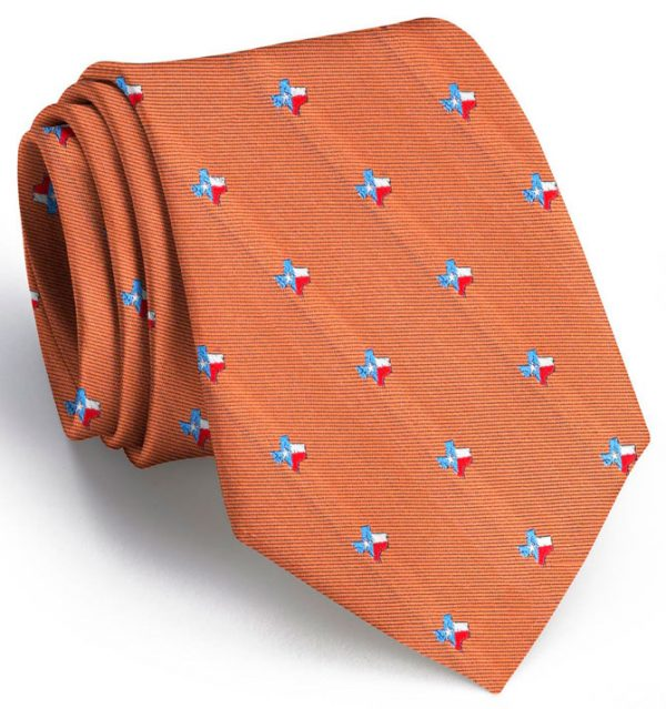 State of Texas Club Tie: Extra Long - Gold