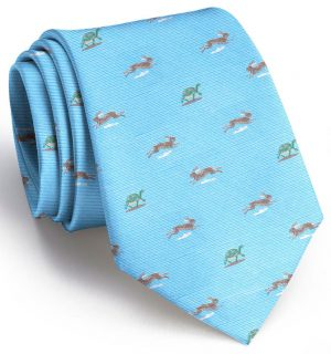 Tortoise and Hare Club Tie: Boys - Light Blue