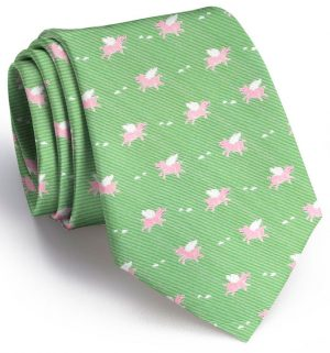When Pigs Fly Club Tie: Boys - Lime
