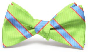 Van Tassel Stripe: Bow - Lime/Blue