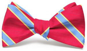 Van Tassel Stripe: Bow - Red/Blue