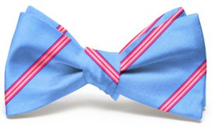 Railroad Stripe: Bow - Light Blue