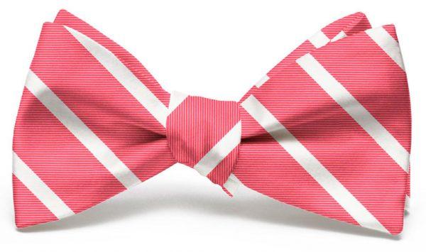 Beau Brummel Stripe: Bow - Coral