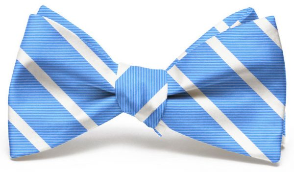 Beau Brummel Stripe: Bow - Light Blue
