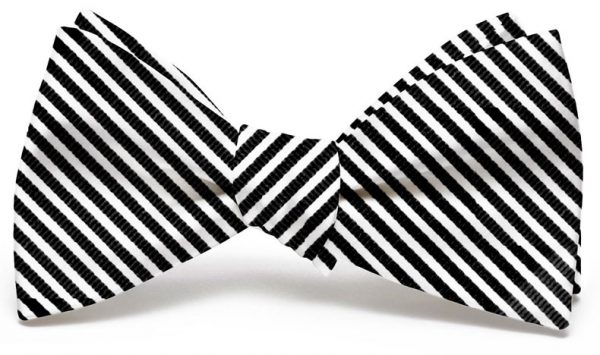 Chapman Stripe: Bow - Black/White