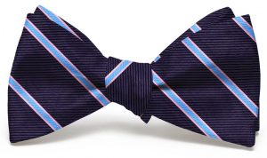 Boardroom Stripe: Bow - Navy