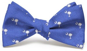 Palmetto Club Tie: Bow - Blue