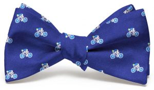 Bicyclist Club Tie: Bow - Navy