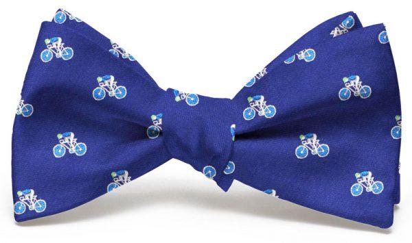 Bicyclist Club Tie: Bow - Navy