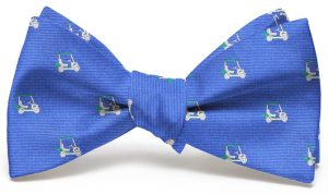 Golf Cart Club Tie: Bow - Blue