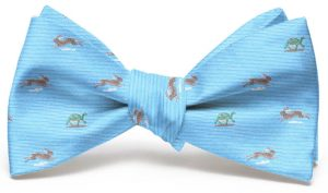 Tortoise and Hare Club Tie: Bow - Light Blue