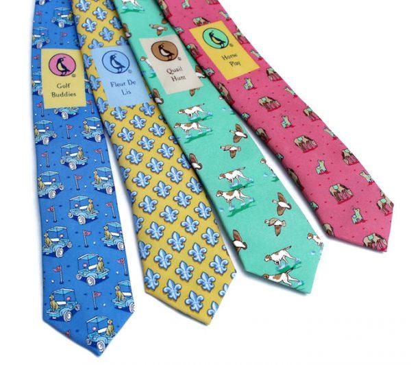Dogleg on Six: Tie - Light Blue/Yellow