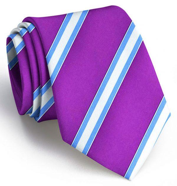 Double Bar Stripe: Tie - Purple
