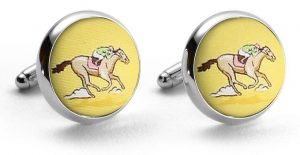And They're Off: Cufflinks - Yellow
