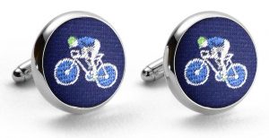 Bicyclist Club Tie: Cufflinks - Navy