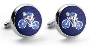 Bicyclist Club Tie: Cufflinks - Navy