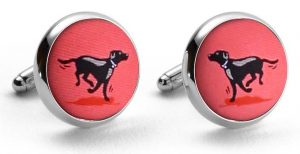 Black Lab Heaven: Cufflinks - Coral