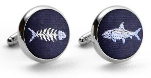 Bonefish Club Tie: Cufflinks - Navy