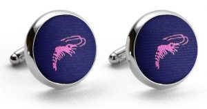 Crawfish Club Tie: Cufflinks - Mid Blue