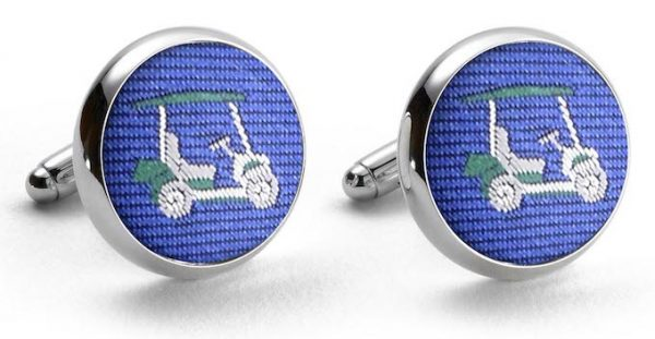 Golf Cart Club Tie: Cufflinks - Blue