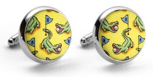 Hazard on Eight: Cufflinks - Yellow/Blue