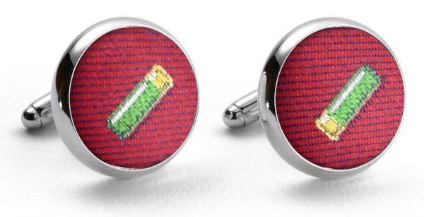 Shotgun Shells Club Tie: Cufflinks - Red