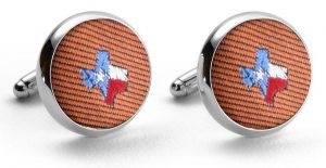 State of Texas Club Tie: Cufflinks - Gold