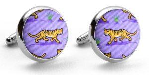 Tiger Tales: Cufflinks - Violet
