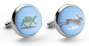 Tortoise & Hare Club Tie: Cufflinks - Blue