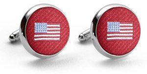 American Flag Club Tie: Cufflinks - Red