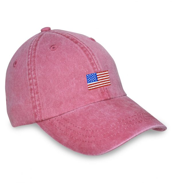 American Flag Sporting Cap – Red