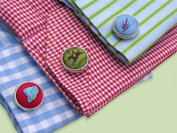 American Flag Club Tie: Cufflinks - Red