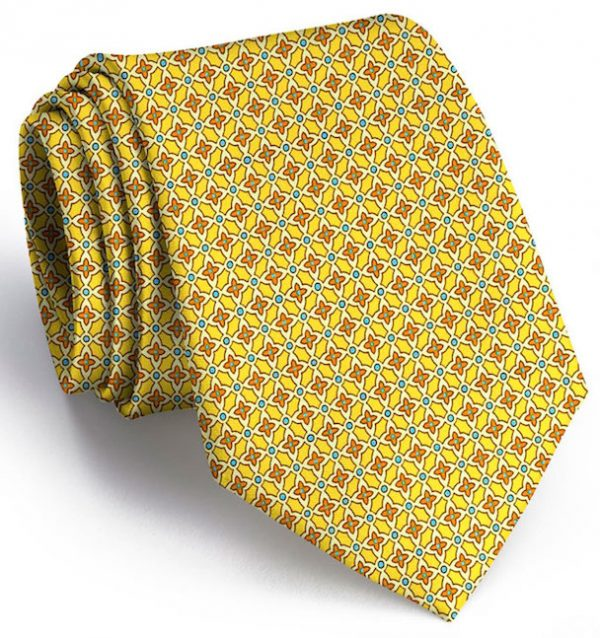 Floral Grid: Tie - Yellow