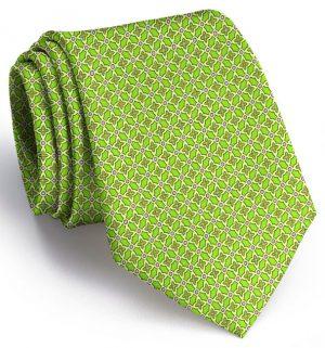 Floral Grid: Tie - Green