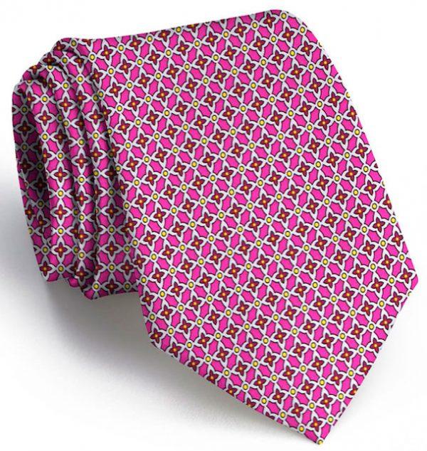 Floral Grid: Tie - Pink