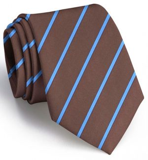 Single Stripe: Tie - Brown