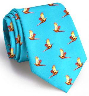 Pheasant Flight: Tie - Turquoise