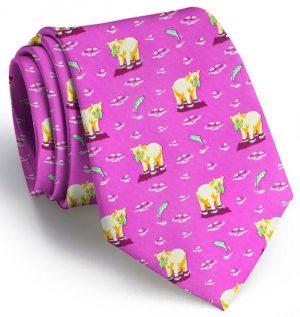Bear Necessities: Tie - Magenta