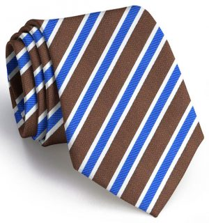 Debonair Stripe: Tie - Brown/Blue