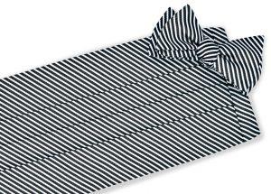 Chapman Stripe: Cummerbund - Black/White