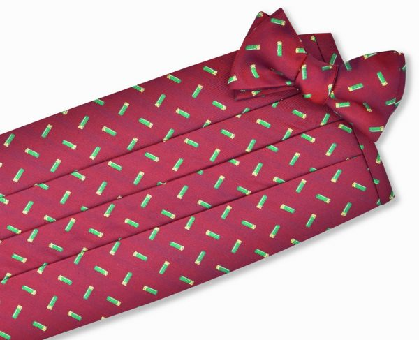 hells Club Tie: Cummerbund - Red