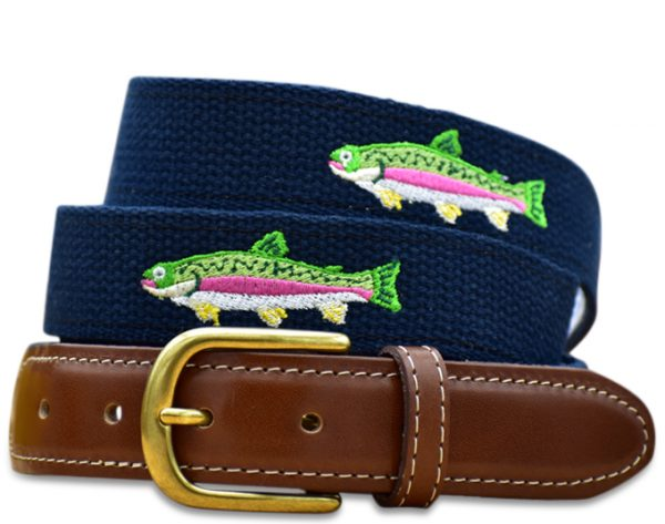 Over the Rainbow: Embroidered Belt - Navy