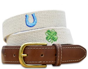 Lucky Belt: Embroidered Belt - Sand