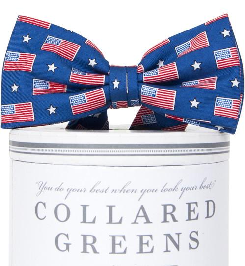 Old Glory: Boys Bow Tie - Blue
