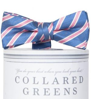 Whitman: Boys Bow Tie - Navy/Pink